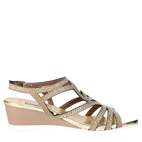 CLAVES 5436 zapatos de color topo pulsera mujer sandalia zeppetta diamantes de imitación 39 Precio barato de venta De Verdad Compras en línea Precio barato Amplia gama de a la venta Compre Footaction barato I7NRlDY