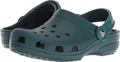 Crocs unisex-kids ClassicClogK, Evergreen , C4 M US Toddler