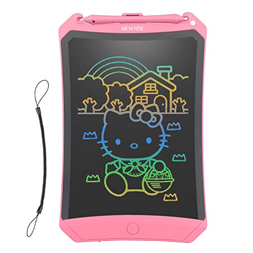 NEWYES LCD Writing Tablet 2019 Improved Robot Pad Colorful Screen 8.5 Inch Electronic Writing Board Doodle and Scribble Notepad Erasable Magnetic Drawing Memo with 1 Lanyard Gift for Kid & Adults
