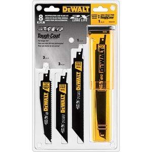 DEWALT DWA4101 Bi-Metal 2X Reciprocating Saw Blade Set, 8-Piece