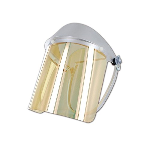 Oberon 4125B FF Gold Metalized Heat-Reflective Face Shield, 13'' x 10'' x 8'' 25, Clear, 13'' x 10'' x 8'' 25 by Oberon Company (Image #1)