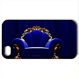 Royal Armchair - Case Cover for iPhone 4 and 4s (Watercolor style, Black)