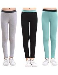 e71770e1b Cotton Ankle Length Girls Leggings Stretchy Kids Pants 3-12y
