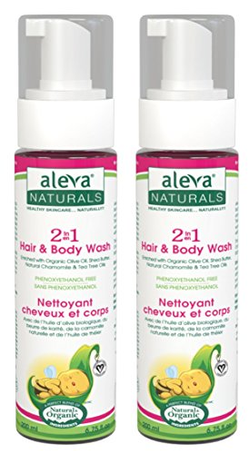 Aleva Naturals 2 in 1 Hair and Body Wash, 6.7 fl.oz (Pack of 2)