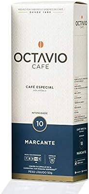 Cápsulas de Café Marcante Intensidade 10 Octavio Café, Compatível com Nespresso, Contém 10 Cápsulas