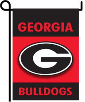 "Georgia Bulldogs 13"" x 17"" Two Sided Garden Flags - 1 Pair"
