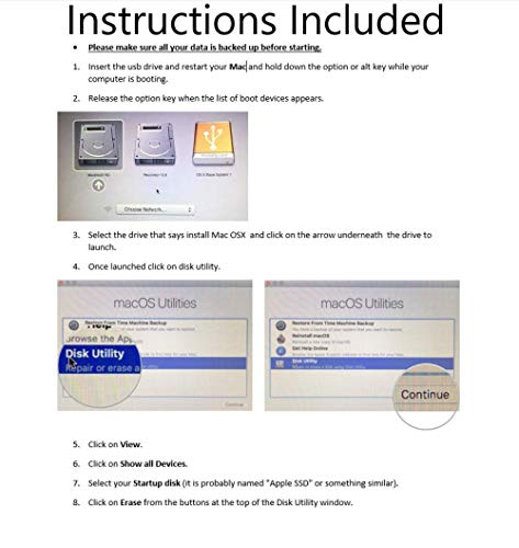 Macintosh OS X Installer - MOJAVE (Mac OS X 14) & HIGH SIERRA (Mac OS X 13)  Dual Bootable USB Drive