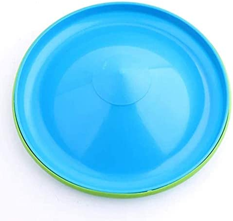 Dog Frisbee Toy Pet Training Cyber Rubber Flying Saucer Interactive Toys Floating Water Dog Toy 8.75 Inch Outdoor Flying Disc Training (Blue)