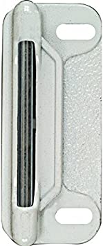 National Stanley Hardware 20720549 Strike Plate For Screen Door Latch White Amazon Com