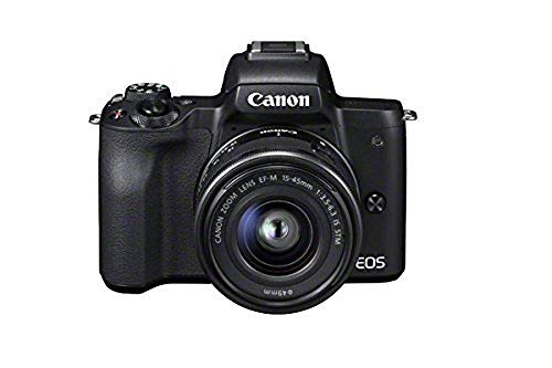 Canon EOS M50 Compact System Camera and EF-M 15-45 mm f/3.5-6.3 IS STM Lens – Black