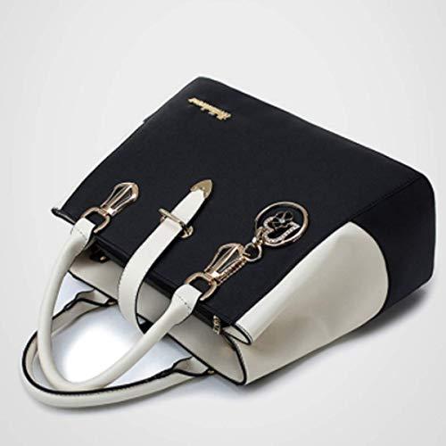 Bolso white × para al 33cm Creamy Hombro Mujer Negro 23cm × xiaohu 14cm Negro d6wxRd