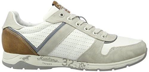 Mustang 4106-303-213, Zapatillas Para Hombre, Multicolor (213 Hellgrau/Off-White), 41 EU
