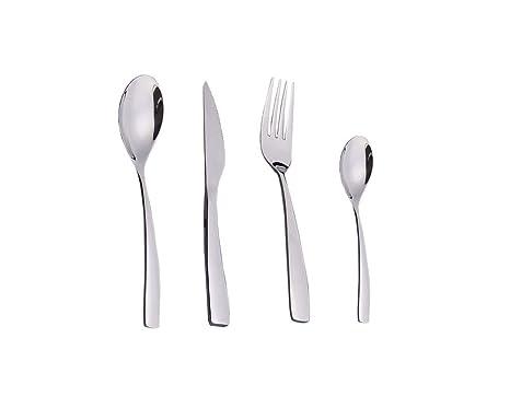 HENGRUI Acero Inoxidable 18/10 Tenedor Cuchara Cuchillo Set ...