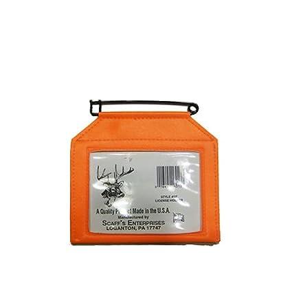 SCAFF'S ENTERPRISES Vinyl License Holder with Rustproof Pin, Fluorescent  Orange
