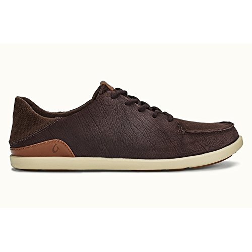 Olukai Manoa Leather - Uomo Dark Wood / Toffee 13