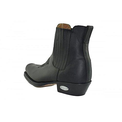 0517 stiefe 517 Herren Boots Biker Ankle schwarz black Stiefeletten Westernstiefel und Größe Loblan Damen 43 pHqW4yBII