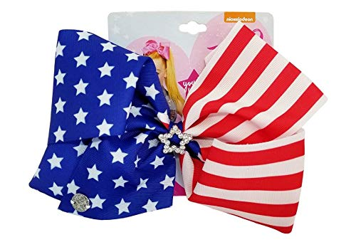 JoJo Siwa Large Cheer Hair Bow (Stars and Stripes)