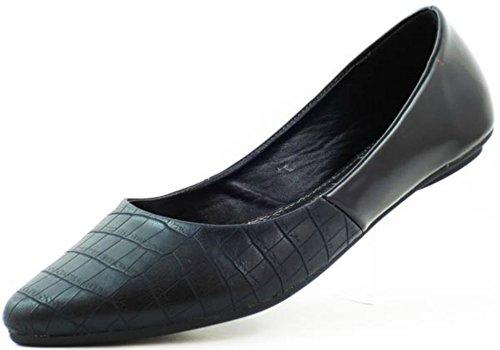 Dbdk Pomona Elegante Gestructureerde Flats Zwart