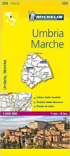 Michelin Map Italy Umbria Marche 359 Maps Local Michelin
