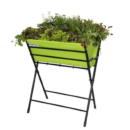 Vegtrug POPKT009LG USA Poppy Black Planter with Lime Green Felt