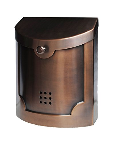 Ecco E4 Mailbox - E4AC Large - Antique Copper Finish - Wall Mounted Mailbox ()