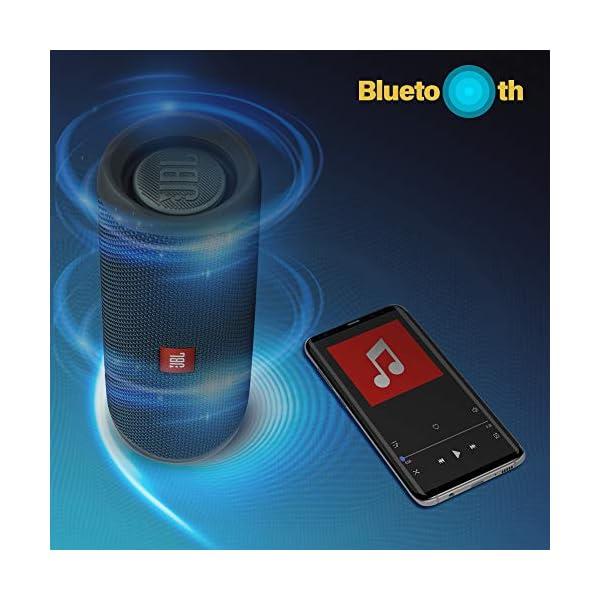 JBL Flip 5 Enceinte Bluetooth Portable avec Batterie Rechargeable, Étanche, Compatible Siri et Google, Bleu 5