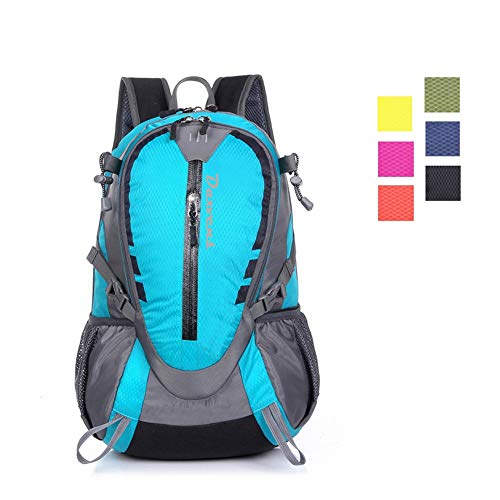 Daxvens Day Hiking Backpack with Chest Wasit Strap for Men