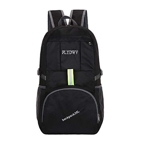 FLYDWV Travel Backpack - 35L Folding Backpack Lightweight and Waterproof Daypack for Hiking Camping Outdoor