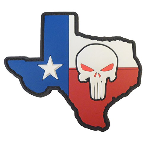 LEGEEON Punisher Texas Lone Star American Sniper DEVGRU PVC Rubber Morale Touch Fastener Patch