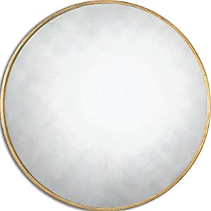 thin frame gold round wall mirror classic vanity