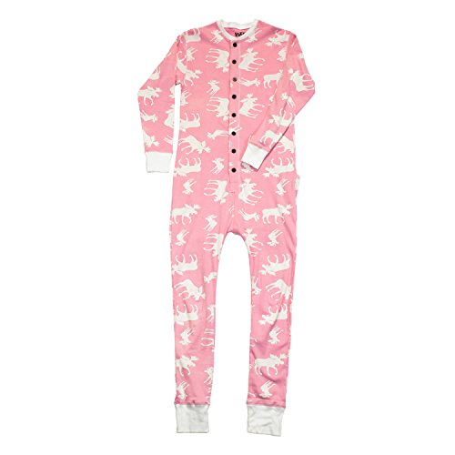 Classic Moose-Moose Adult Flapjack Onesie Union Suit by Lazy One (Funny Onesie Adults)