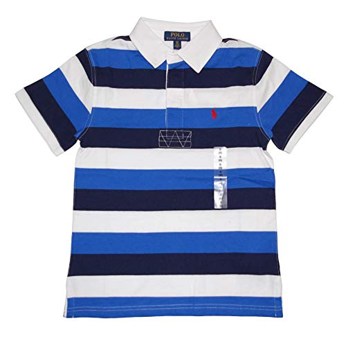 (Ralph Lauren Polo Boys Short Sleeve Striped Rugby Shirt (Large 14-16))