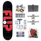 Shortboard Skateboard Assembly Skateboard High Speed Silent Skateboard Antiskid Skateboard Boys and Girls Skateboard (Color : Black)