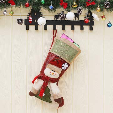 Christmas Candy Bag Stocking Lovely Santa Claus Sock Gift Bag Bauble Christmas Tree Ornaments Decor - Festival Gifts & Party Supplies Christmas Sale - (Snowman) - 1 x Christmas Candy Bag Stocking