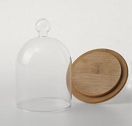 90mm Glass Display Dome Clothe Bell Jar Flower Preservation Vase