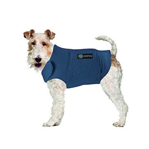 American Kennel Club Anti Anxiety and Stress Relief Calming Coat for Dogs, Extra Small, Blue