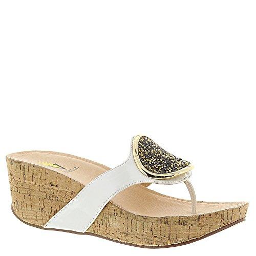 Volatile Women's Sterling Wedge Sandal, White, 9 B US