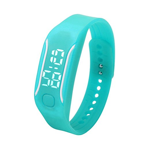 Creazy® Fashion LED Sports Running Watch Date Rubber Bracelet Digital Wrist Watch (Sky Blue) CreazyDog