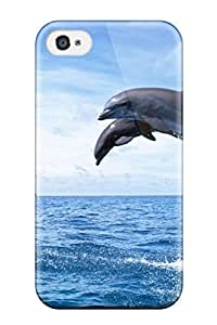 First-class Case Cover For Iphone 4/4s Dual Protection Cover Dolphins