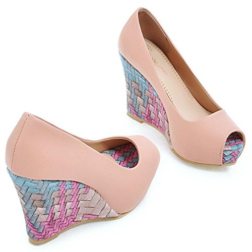Tacco Scarpe Zeppa Pink con COOLCEPT Peep Donna Toe wtYxYfXq