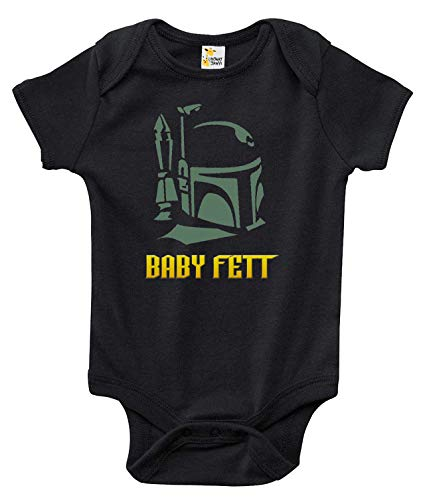 Rapunzie Baby Fett Baby Bodysuit Cute Funny Baby Clothes for Infant Boys and Girls (6-12 Months, Black)]()