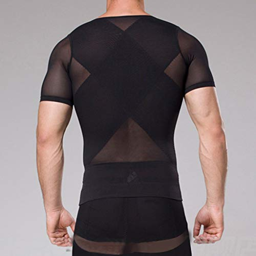 Alalaso Men's Short Sleeve Compression Shirt by Alalaso Men Sleepwear (Image #3)