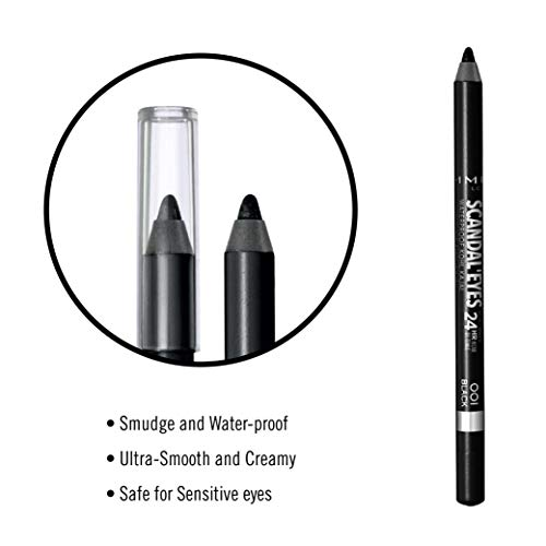 Rimmel Scandaleyes Waterproof Gel Eyeliner Pencil, Black