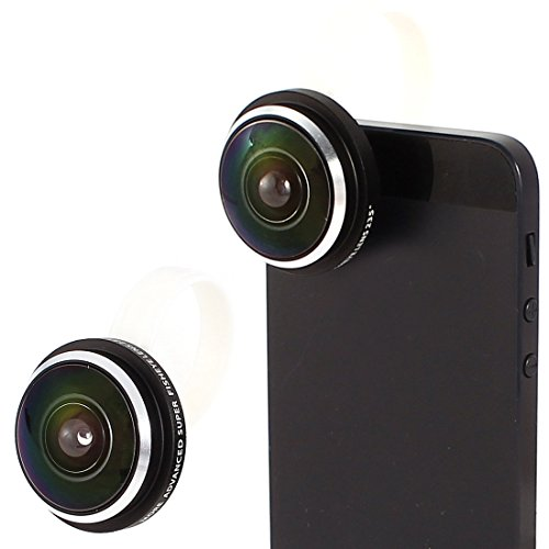 Screw-on Detachable 235 Degree Fish Eye Camera Lens for Mobile Phone (235 Degree Fisheye Lens compare prices)