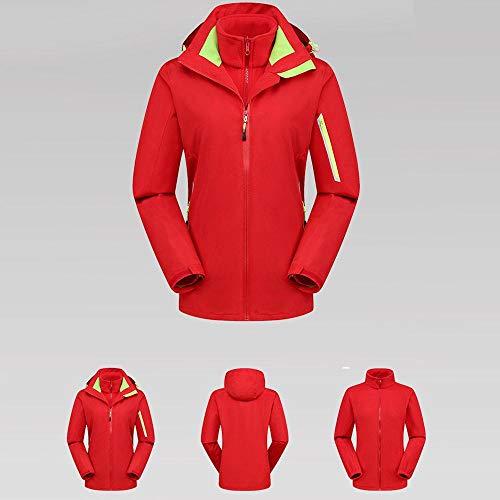 Dos Sudaderas Chaquetas Para Libre Puro Caliente Y Piezas Parkas Cortavientos Exteriores Logobeing Chaqueta Abrigos Invierno Mujer Deporte Aire De Rojo 0AnqgdqX