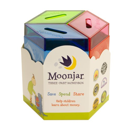 Gift ideas for a 9 year old grand daughter? Moonjar Classic Moneybox: Save, Spend, Share