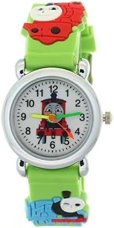 TMSNPY Kid's NLG-K-232 Timermall Thomas Tank Engine Friends Cute Cartoon Analogue Quartz Green Watch
