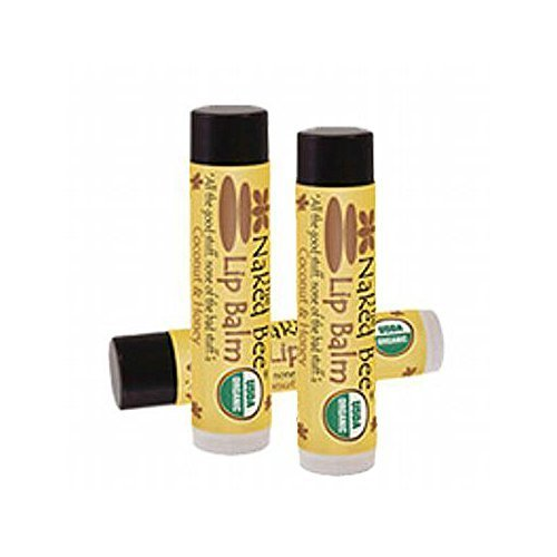 The Naked Bee Lip Balm 0.15 oz, 3 Pack (Coconut Honey) (Balm Real Honey Lip)