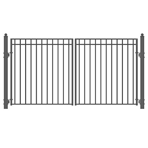 ALEKO Madrid Style Iron Wrought Gate 12' Ornamental Dual ...