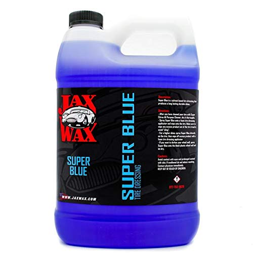 Blue Dressing - Jax Wax Super Blue Commercial Grade Solvent Based Dressing for Rubber, Plastic and Vinyl 1 Gallon